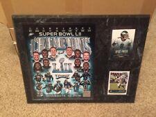 Foles Ertz 12x15 PLAQUE 8X1O PHOTO 2 CARDS Philadelphia Eagles Super Bowl
