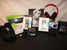 Assorted Electronics And Accessories Lot Bundle Speakers Headphones Mp3 (Cl)
