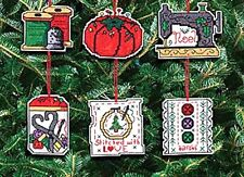Janlynn Counted Cross Stitch Kit ~ CHRISTMAS SEWING ORNAMENTS #021-1454 Sale