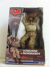 Gi Joe Hasbro 1:6 World War II Airborne At Normandy With Working Parachute.