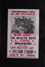 The Beastie Boys 1986 Tour Poster RUN DMC Philadelphia