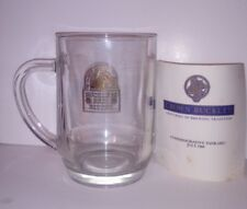 Crown Buckley Commemorative Glass Tankard July 1989 - MINT Condition Certificate