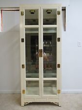 Hickory White Ivory Mebane Crystal Curio China Cabinet Hutch Chinoiserie B