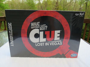 Clue Lost in Vegas What happened last Night ? Board Game Hasbro NEW SEALED