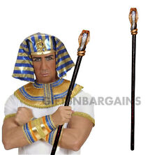 Egyptian Cobra Staff Pharaoh King Queen Cleopatra Wizard Sceptre Costume Prop