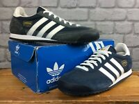 ADIDAS MENS UK 8 EU 42 DRAGON DARK BLUE WHITE GOLD TRAINERS RRP £65   EP