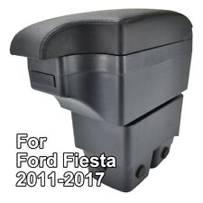 Ashtray Car Armrest Central Store Box For Ford Fiesta 2009-2017 Leather 11-17