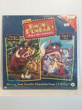 Disney Timon & Pumbaa's Wild Adventures Laser Disc Hangin' With Baby & Grub's On