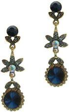 Ethnic Inspired Sapphire Dangle Earrings for Pierced Ears Bollywood Earrings New