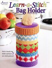 Learn-a-Stitch Bag Holder ~ 7 Stitch Patterns, Annie's plastic canvas patterns