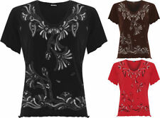 Polyester Geometric T-Shirts for Women