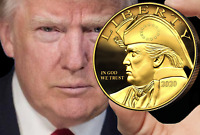 Patriot Trump Eagle 24K Gilded Gold Coin