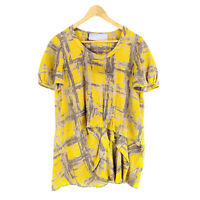 Vera Wang Lavender Label Silk Top Blouse Women's Medium Short Sleeve