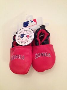 MLB Anaheim Angels Baby Boy Girl Booties Shoes Soft Sole Size 3 6 9 12 Months