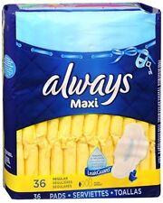 Always Maxi Pads Regular Flexi-Wings 36 Each