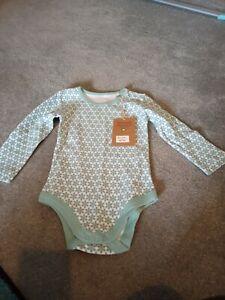 Kitekids green flowery baby vest 18-24m