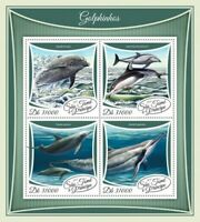St Thomas - 2017 Dolphins on Stamps - 4 Stamp Sheet - ST17503a