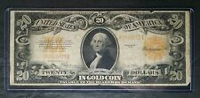 1922 $20 Gold Certificate Large Note