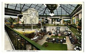Lobby, Great Northern Hotel, Chicago, IL Postcard *6V(3)4