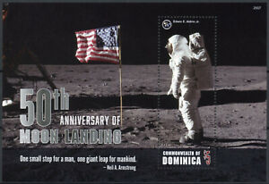 Dominica Space Stamps 2020 MNH Apollo 11 Moon Landing Neil Armstrong 1v S/S