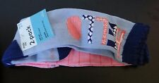 Stride Rite 2pk Hello Hanna Knee High pink & blue Socks,baby girl shoe size 3-7