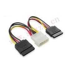 Molex to 2 SATA Dual Power Y Splitter Adaptor Cable Lead 2 Way 4 Pin -15 Pin