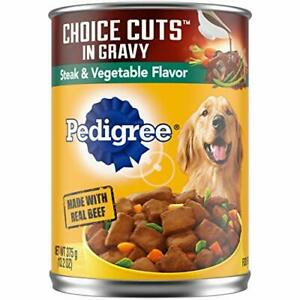 PEDIGREE CHOICE CUTS IN GRAVY Adult Canned Wet Dog Food 13.2oz & 22 oz. Cans