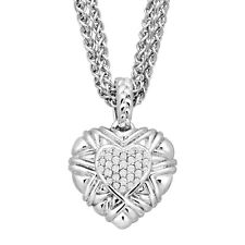 1/5 ct Diamond Heart Pendant in Sterling Silver