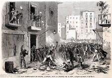 Napoli: Assalto a un Commissariato di Polizia. Regno delle Due Sicilie. 1860