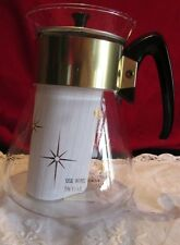Vintage Pyrex 6 cup Starburst Atomic Coffee Carafe with lid.