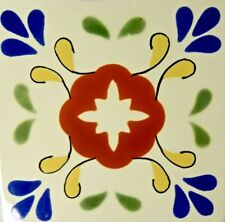 Flor de Colores (Flower of Colors) Talavera Tile