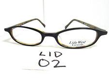 Vintage Eyeglasses Frame by Lido Eyeworks #Squid Black Amber (Lid-02)