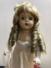 15� Vintage X Marked Compo Doll Redressed Alex Bride Replaced Wig & Shoes #S