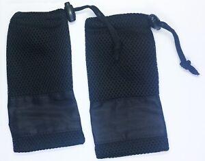 1 x Glasses Sunglasses / Phone Case Soft Mesh Pouch Bag For Travel - Black