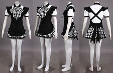 Haiyore!Nyaruko San Cosplay Costume Nyaruko Gothic Maid Uniform Any Size
