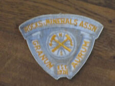 "rocks,minerals assn,patch,""granum ,aurum"" established 1928, nos,1960's,set 5"