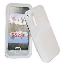 Silicone TPU Phone Case Cover White for Samsung GT s5230 + Screen Protector