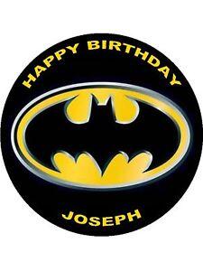 7.5 BATMAN EDIBLE ICING BIRTHDAY CAKE TOPPER