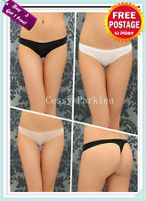 Ladies Black White Beige Basic Thong Seamless G-string Underpanties S/M/L AU