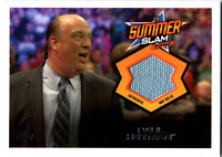 WWE Paul Heyman 2013 Topps Triple Threat SummerSlam Event Used Mat Relic Card