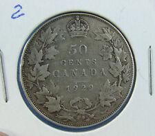 Canada 1929 50 cents silver nice coin VG + no 2