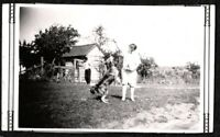 VINTAGE PHOTOGRAPH 1934 GIRL WOMAN FASHION OF ERA COLLIE DOG PUPPY PUP OLD PHOTO