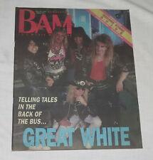 BAM LA's Music Magazine 28 Jul 1989 313 Great White Telling Tales in Back of Bus