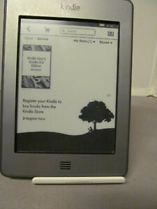 Amazon Kindle Touch 4th Gen D01200 Wi-Fi eBook Reader Grey 0N42