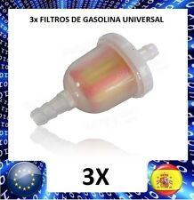3X mini FILTRO DE GASOLINA UNIVERSAL COCHE MOTO ENVIO RAPIDO