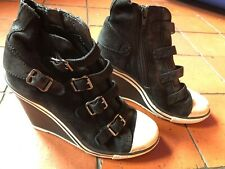 ASH Suede Wedge Trainers Size 36, UK 3, Used, Good Condition