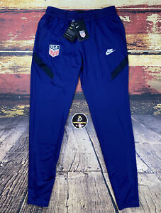 Mens Nike Team USA Soccer Dry-Fit Taper Training Pants Navy Sz Small USMNT FIFA