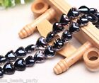10pcs 16x14mm Exquisite Heart Lampwork Glass Finding Loose Spacer Beads Black
