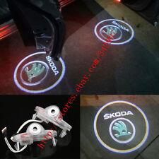 2x Laser LED Car Door Ghost Shadow Welcome Projector Lights For SKODA Octavia