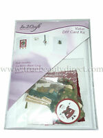 IN 2 CRAFT DIY XMAS CARD KIT CHRISTMAS SET 3 MAKE YOUR OWN CARDS EMBELLISHMENTS